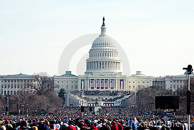 People at the Inauguration Editorial Stock Image