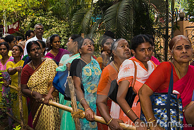 People at Indian streets Editorial Stock Photo