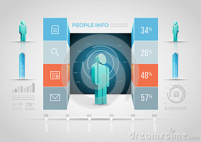 People Infographic Design Template Royalty Free Stock Images ...