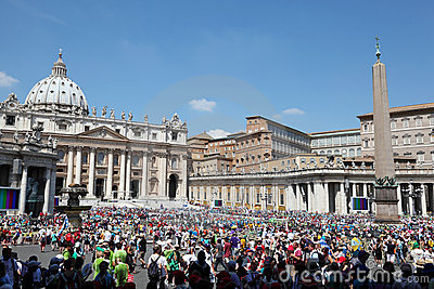 People are on international pilgrimage Editorial Image