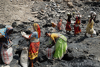 People of the Jharia coalmines area in India Editorial Stock Photo