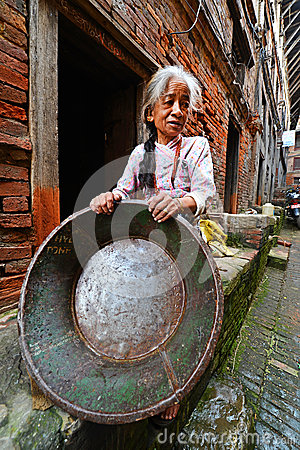People from Katmandu suburbs living in poverty Editorial Photography