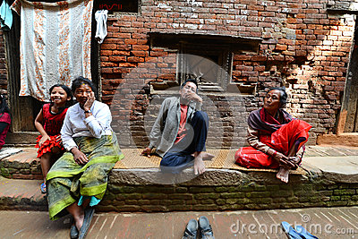 People from Katmandu suburbs living in poverty Editorial Image