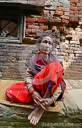 People from Katmandu suburbs living in poverty Editorial Photo