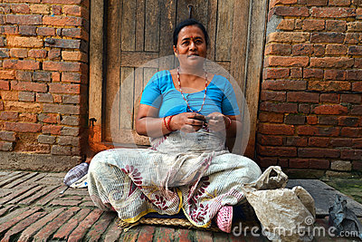 People from Katmandu suburbs living in poverty Editorial Stock Image