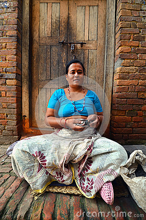 People from Katmandu suburbs living in poverty Editorial Stock Photo