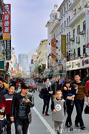People life and commerical street, Xiamen , China