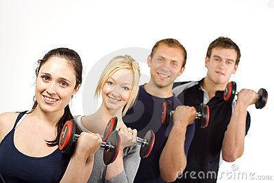 People lifting weights