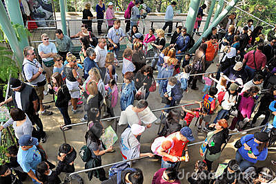 People in line Editorial Photography