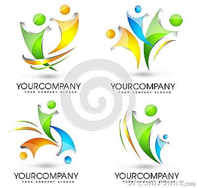 People Logo Set