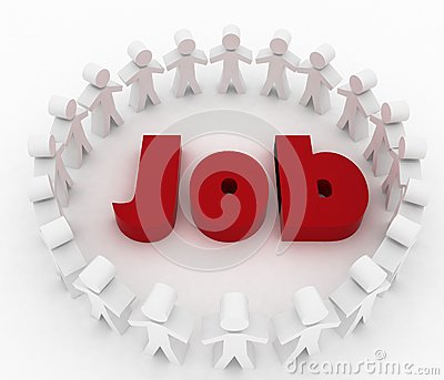 People looking for job. Career opportunity concept