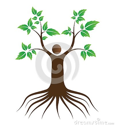 People love tree with roots Stock Photo