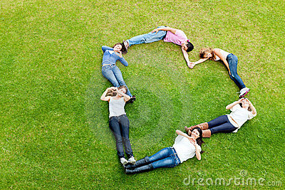 People making a heart