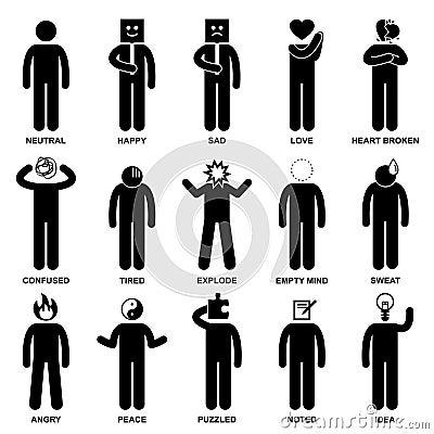 People Man Emotion Feeling Action Pictogram
