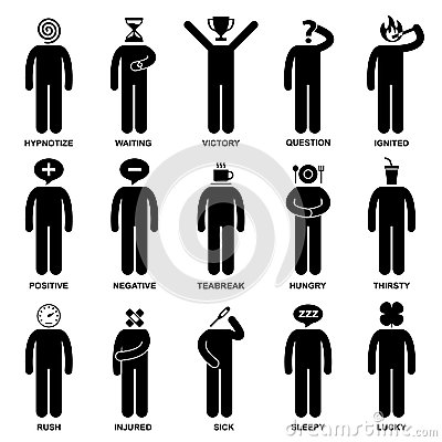 Free People Man Emotion Feeling Action Pictogram Royalty Free Stock Images - 27880359