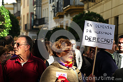 People marching in a demonstration 15 Editorial Stock Photo