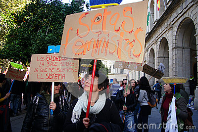 People marching in a demonstration 20 Editorial Stock Image