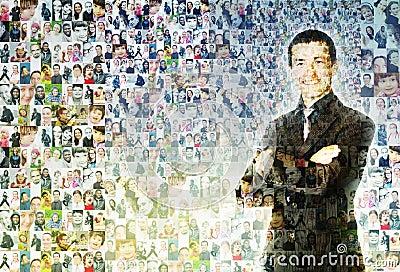 People mosaic Stock Photo