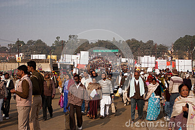 People movement on the Kumbh Mela Editorial Image