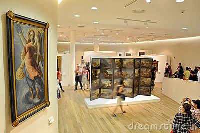 People in Museum Editorial Stock Image