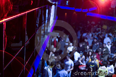 People in night club