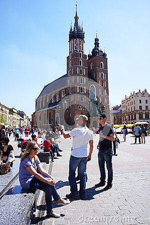 People old square Krakow
