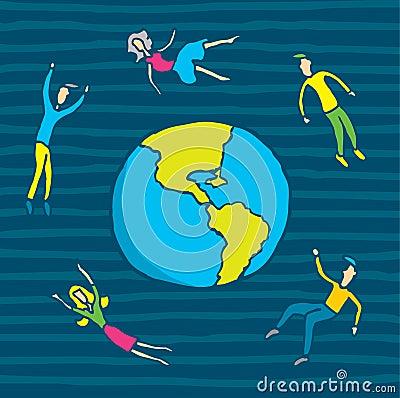 People in orbit
