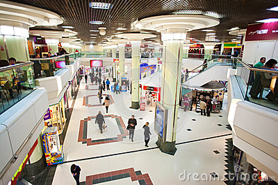 City mall indoors with people Editorial Photography