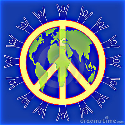 People @ Peace in the world Blue