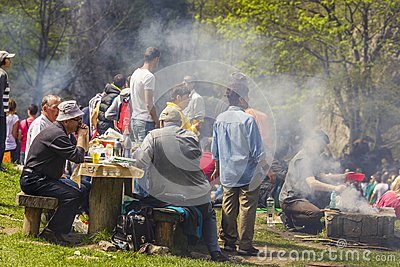 People picnicking Editorial Stock Photo