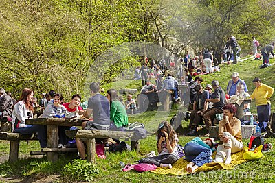 People picnicking Editorial Image