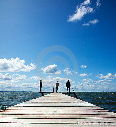 People on a pier