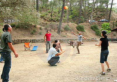 People playing ball