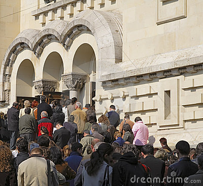 People praying Editorial Photo