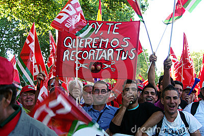 People in a protest march 11 Editorial Stock Photo