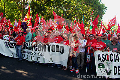 People in a protest march 21 Editorial Stock Image