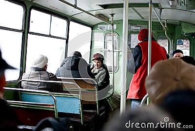 People in public transport