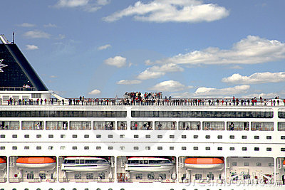 People on recreational passenger ship