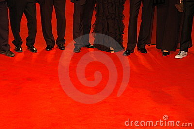 People  on red carpet