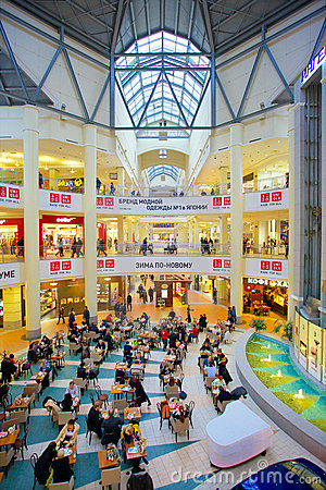 People rest in mall Editorial Stock Photo