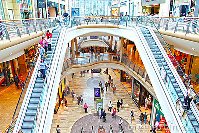 People at retail shopping mall Editorial Stock Image
