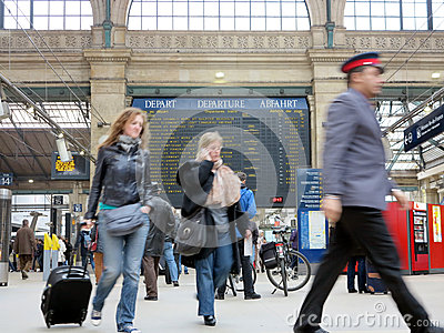 Gare du Nord Paris Editorial Photography