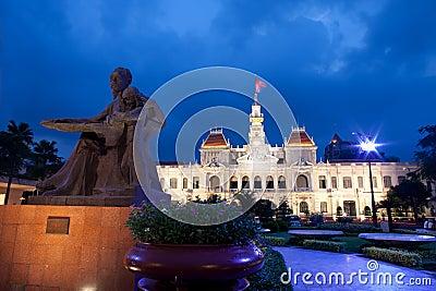 People s Committee building in Saigon, Vietnam