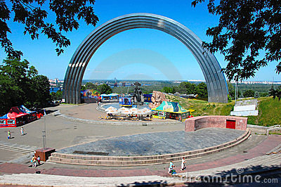 Peoples Friendship Arch in Kiev, Ukraine Editorial Image