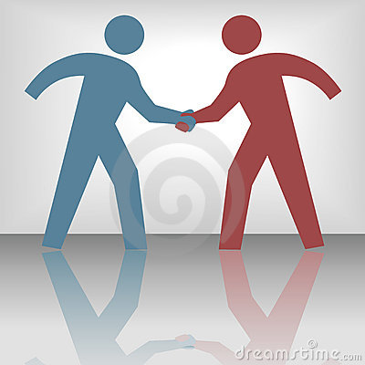 Free People Seal Agreement Deal Handshake Stock Photography - 6015022