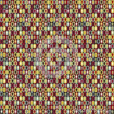 People seamless pattern