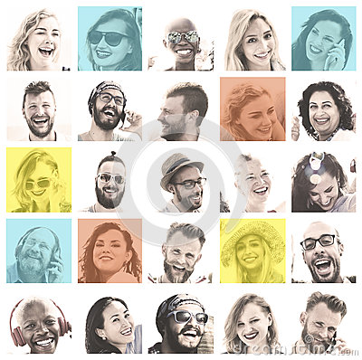 Free People Set Of Faces Diversity Human Face Concept Royalty Free Stock Photos - 76005528