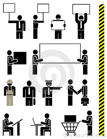People - set of vector icons