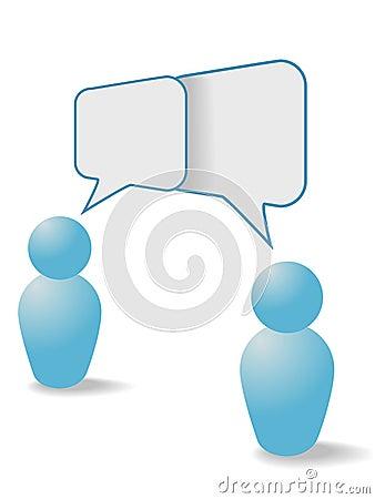 People share communication speech bubbles