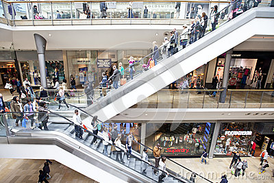 People shopping in retail mall Editorial Photo